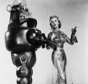 Robby the Robot en Anne Francis in Forbidden Planet. Te zien: 22-7-2011 Nutstuin.