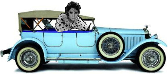 Norma Talmadge in haar Hispano Suiza, 1924.