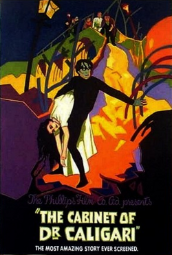 Cabinet of Dr. Caligari, 1920, Werner Krauss, Conrad Veidt, Friedrich, Movie Poster Painting